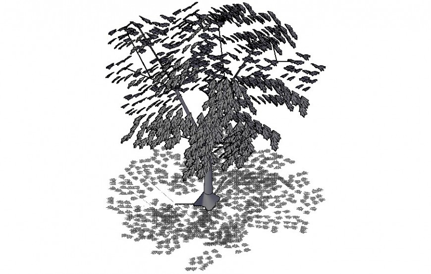 3d landscaping trees block drawing in autocad