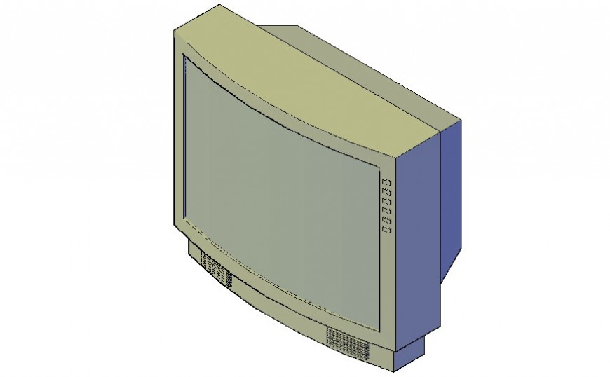 3d model electrical block of television autocad drawing