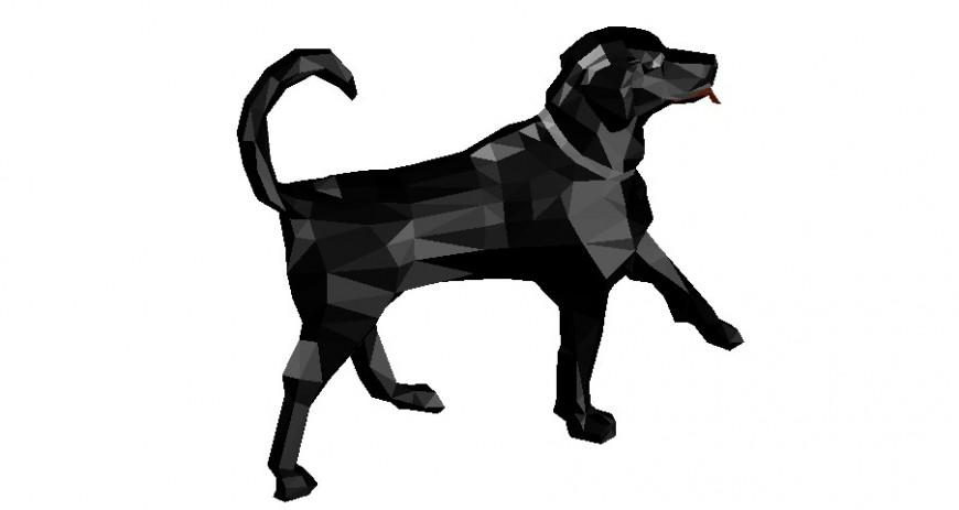 3d model of dog animal block autocad file