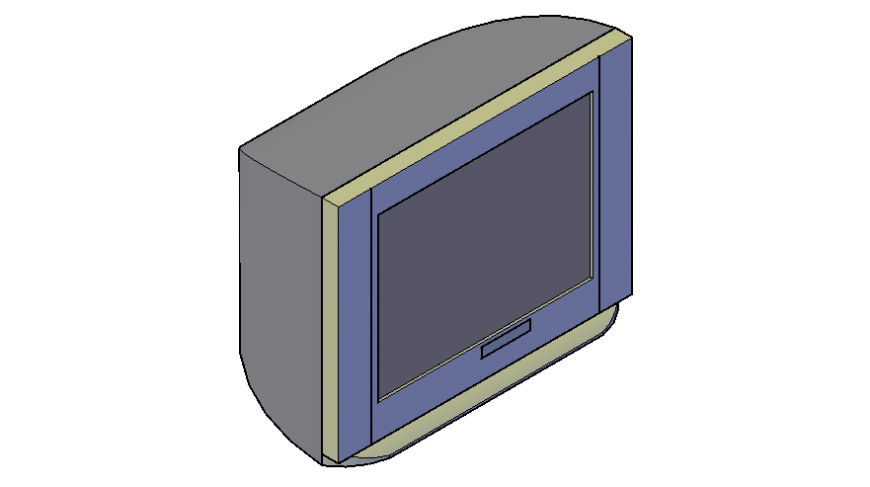 3d model of electrical blocks of television autocad file