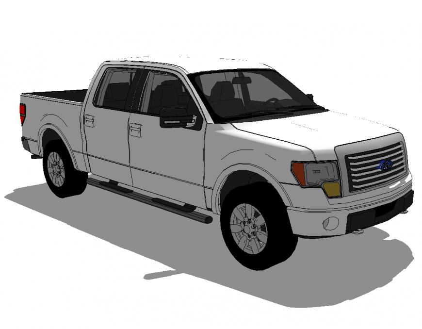 3d model of jeep detail vehicle block sketch-up file