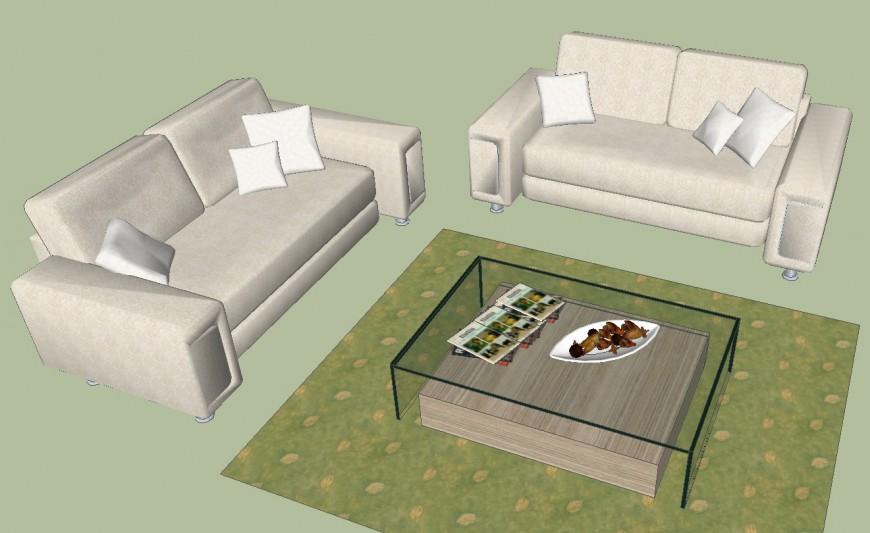 3d model of luxury sofa-set design