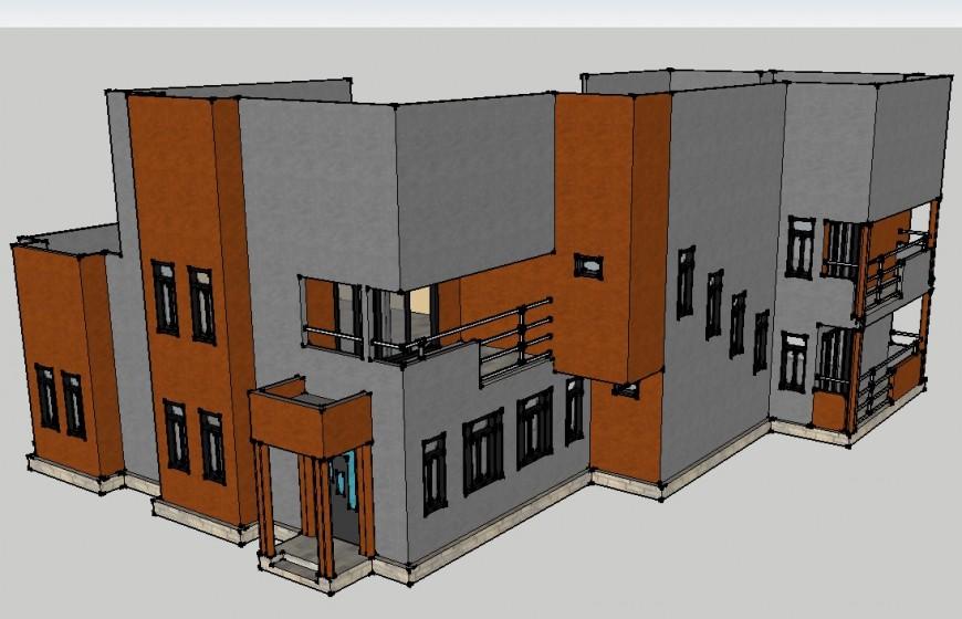 3d Model of residence house skp file