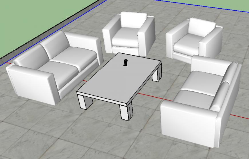 3D Model of sofa-set design