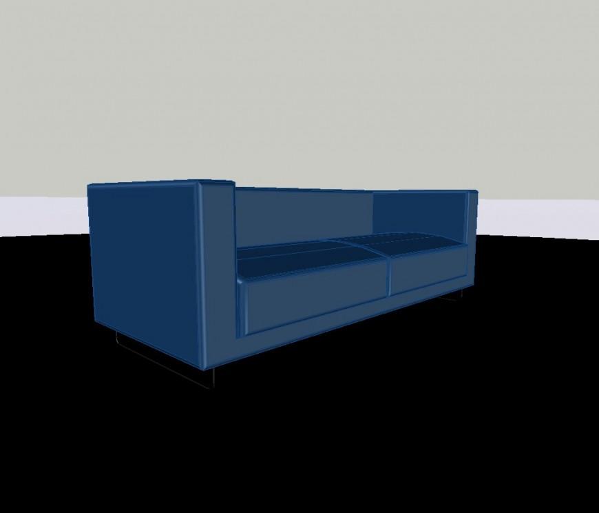 3d model of sofa-set detail CAD furniture units autocad file