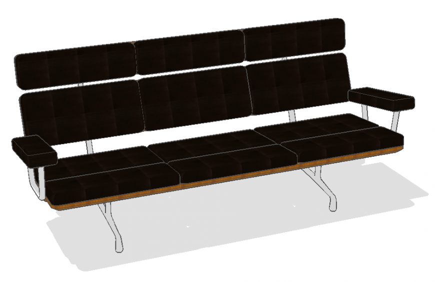 3d model of sofa set detail layout Sketch-up file