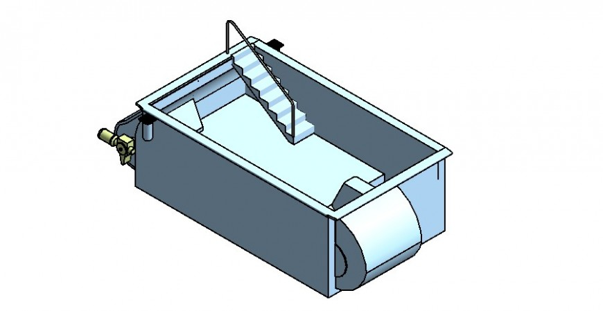 3d model of swimming pool structure detail layout Revit file