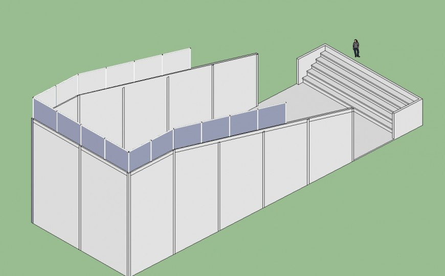 3d model of theater block detail sketch-up file