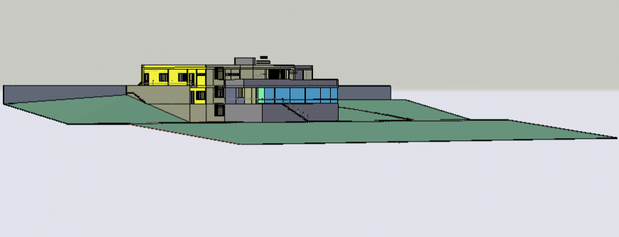 3d model of villa house.