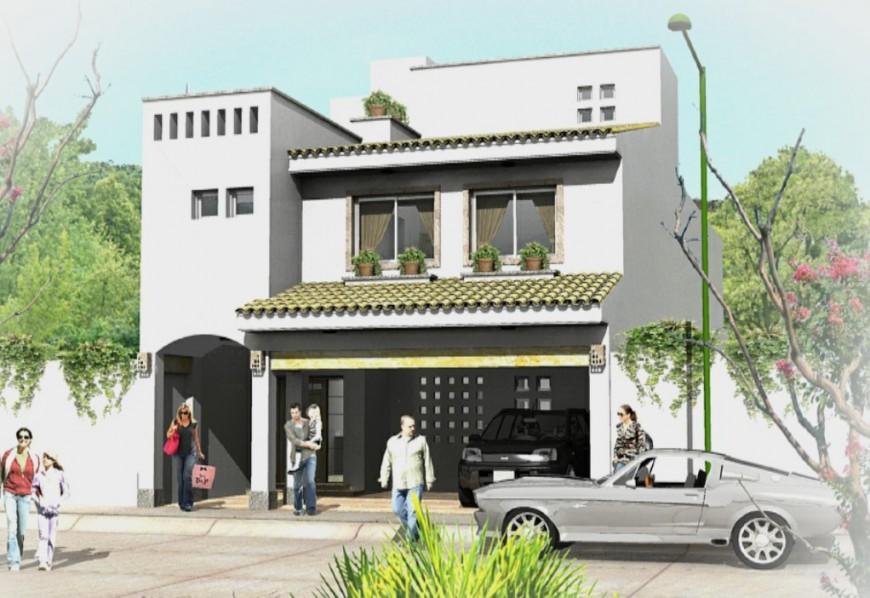 3d modern residence house skp file