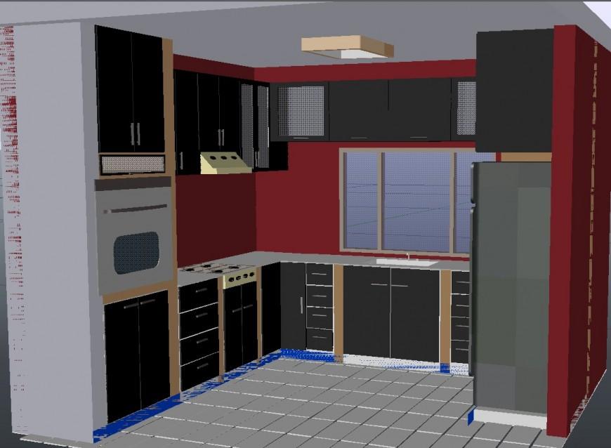 Autocad 3d Kitchen Design Point Kitchen