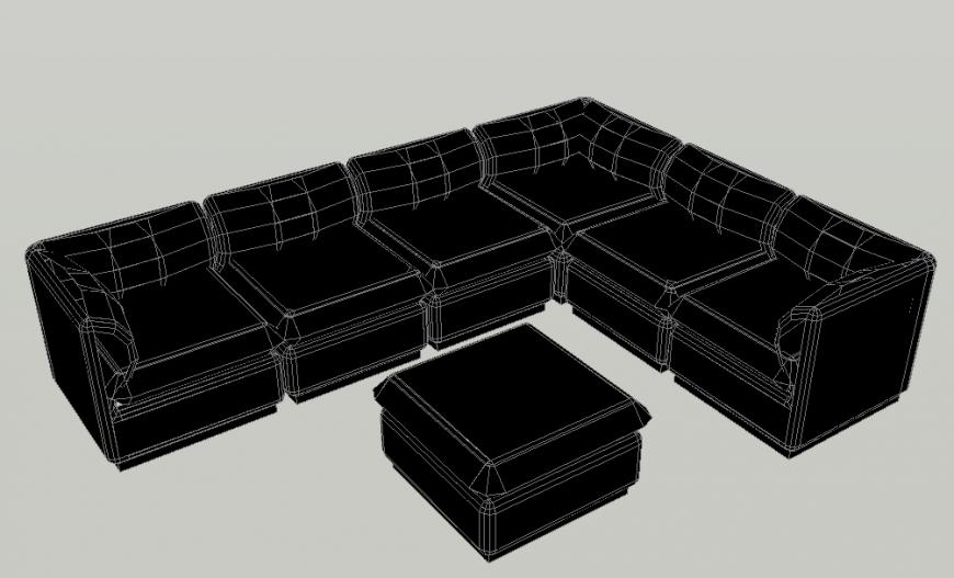 3D Sofa set Block Design Block