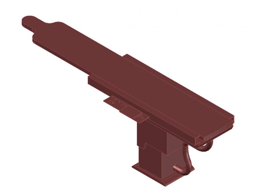 3d telescope elevation cad drawing details dwg file