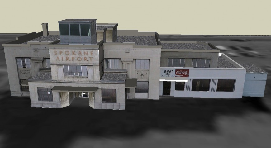 3d view of ''Spokane airport '' hotel in sketch up file