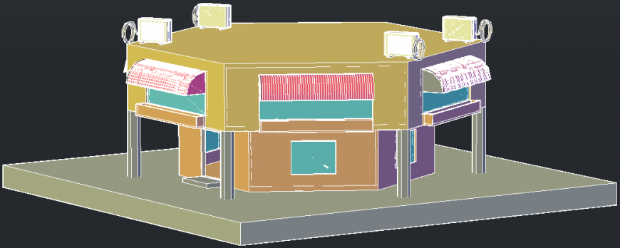 3D view of building