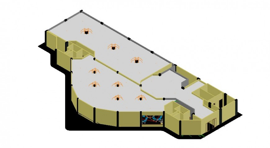 3d view of casino in auto cad software