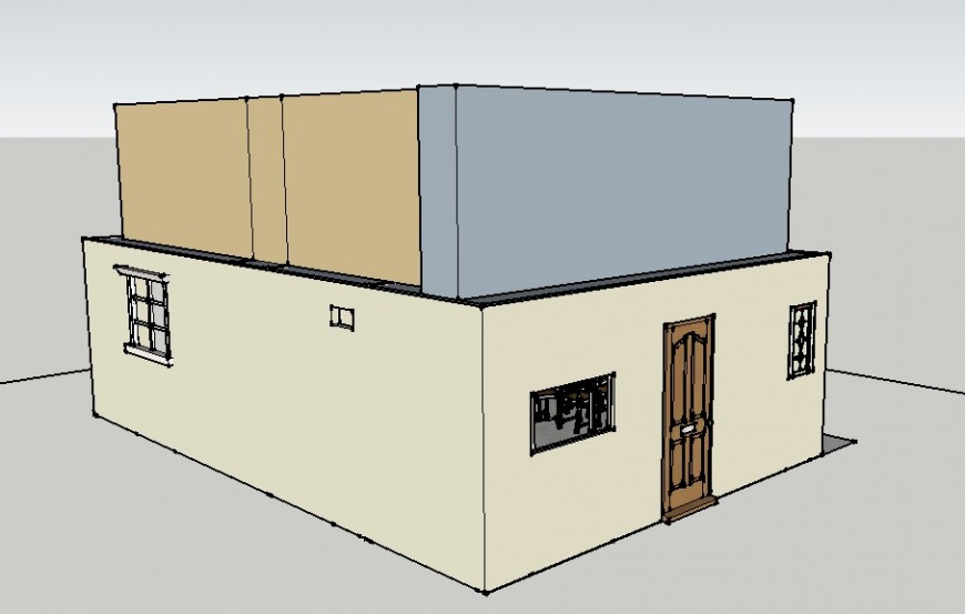 3d view of house in sketch up file