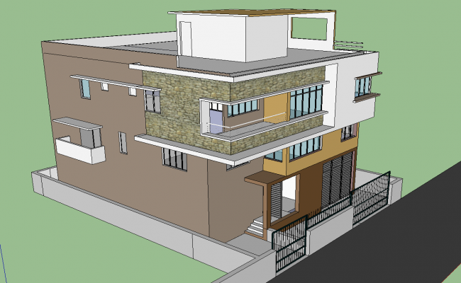 3d residence villa