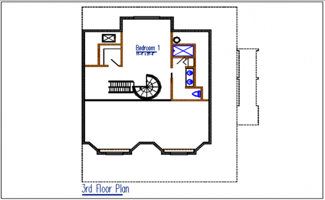 3nd floor plan detail dwg file