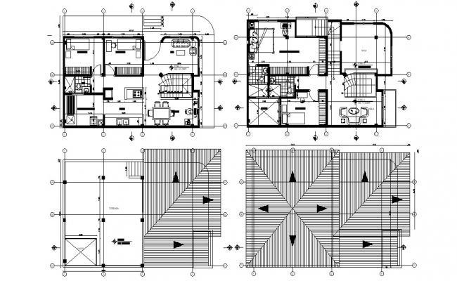 4 BHK Villa Design Architecture Furniture Layout Plan
