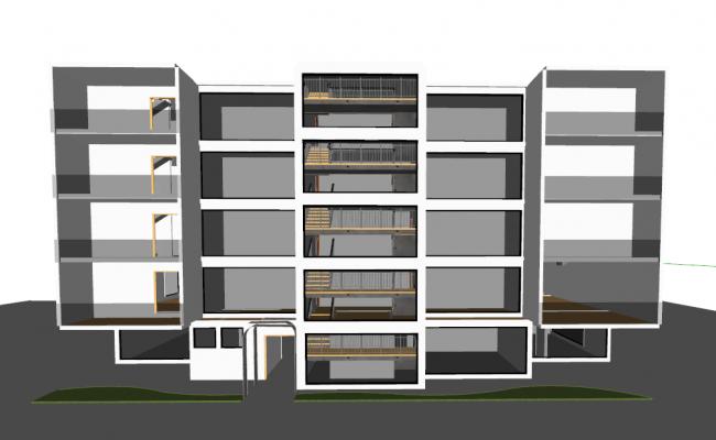 4 Level Apartment Project detail