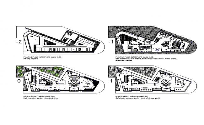 4 Star Hotel architecture design Lay-out