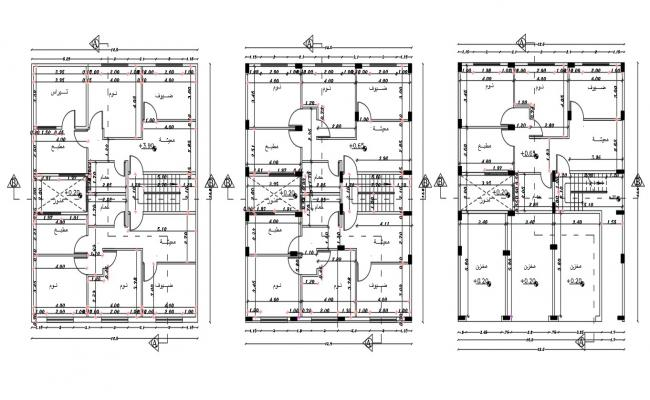 40 By 45 Feet Apartment Cluster plan Design