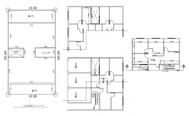 40 By 65 Feet House Plot Plan Free DWG File