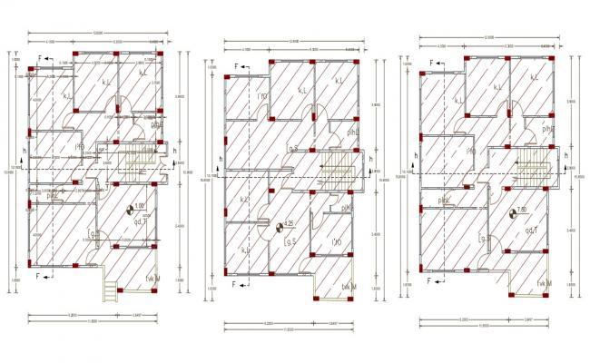 40' X 50' Multifamily House Floor Plan Design