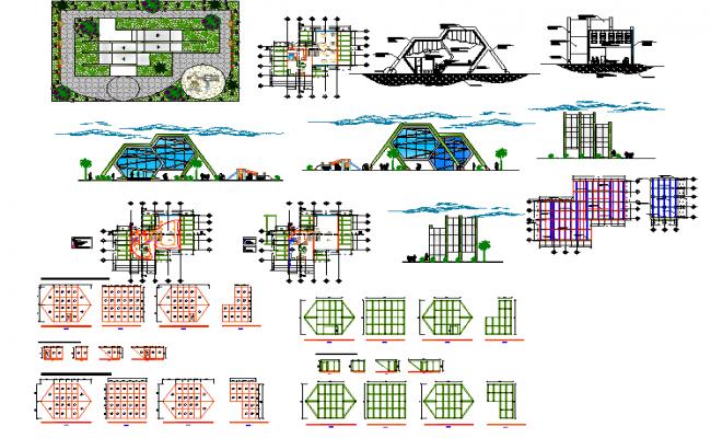 Garden restaurant plan lay-out.