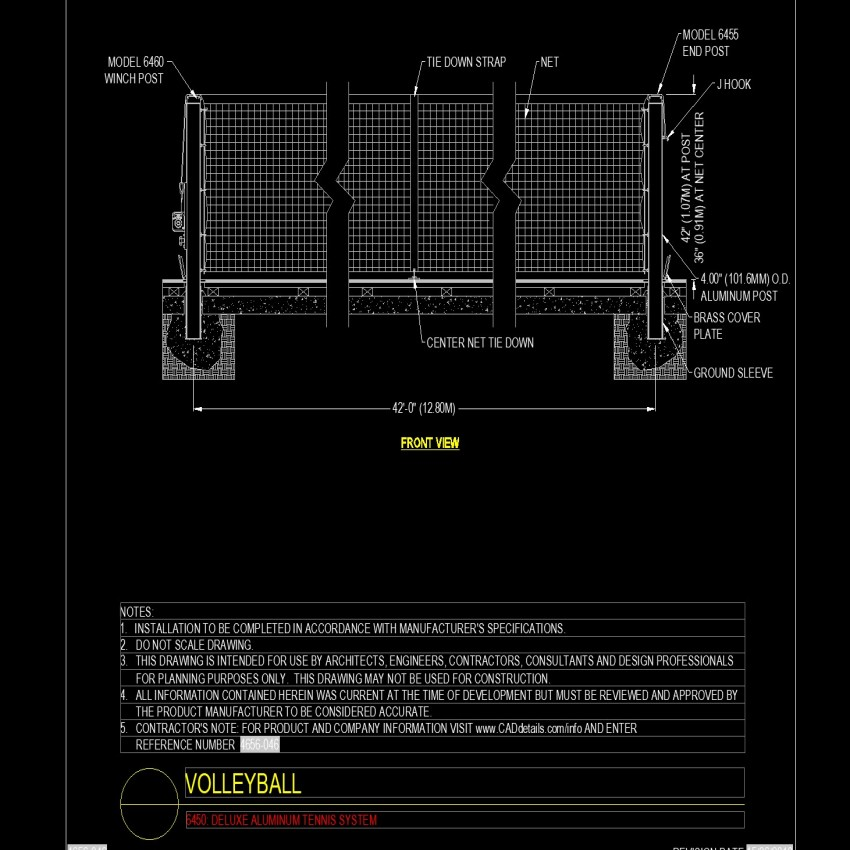 """42'0"""" feet volleyball plan autocad file"""