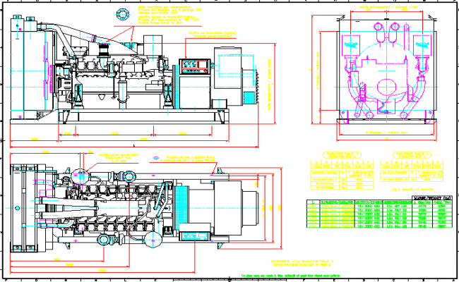 Generator machine drawing