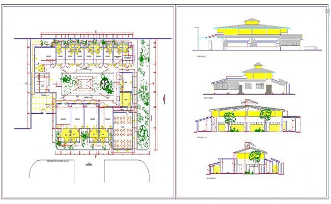 Small Restaurant Detail plan