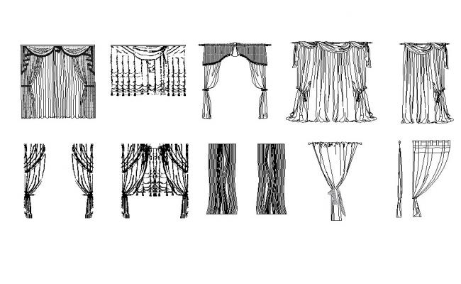Curtain Design In Autocad Dwg Files Cadbull