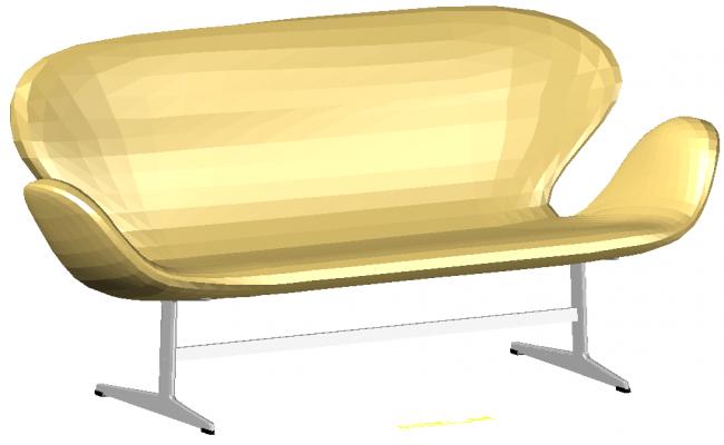 3D Sofa design autocad block