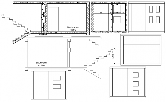 Bed Room Elevation Design