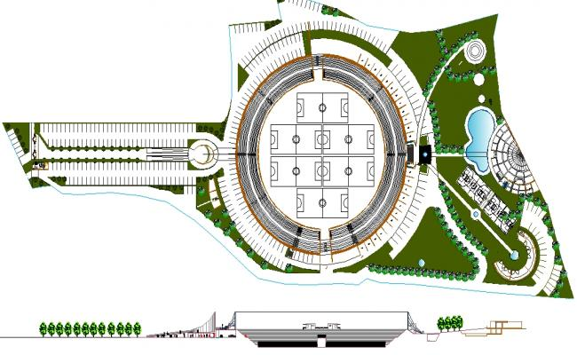 Sport centre -Lay-out plan