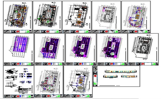 Modern Hotel Plan DWG File
