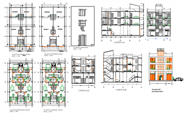 Apartment Building Plan Design