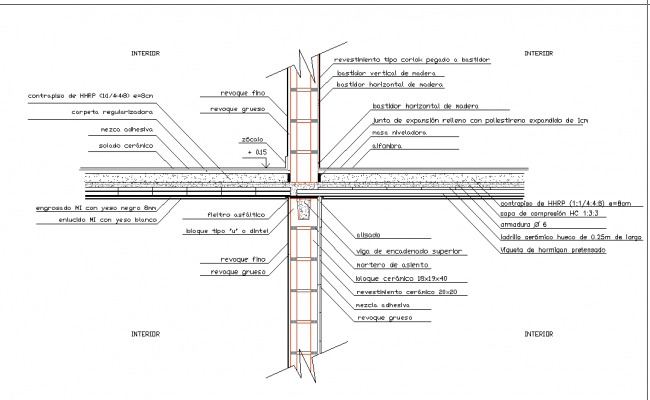 Wall with column Structure Design