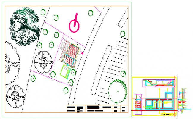 Basic plan and sitation plan of house design drawing