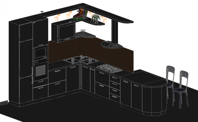 3D Kitchen Detail
