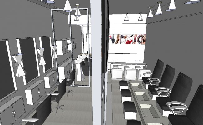 3d saloon interiors