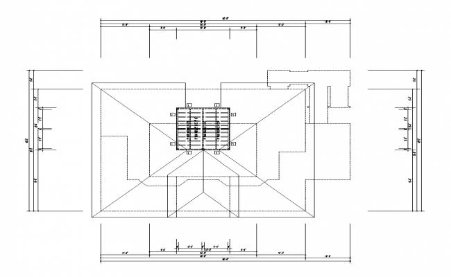 4th Floor Framing Plan detail 2d view layout autocad file