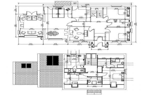 5 BHK House Plan DWG File