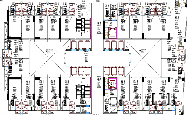5 Star Hotel drawing dwg file