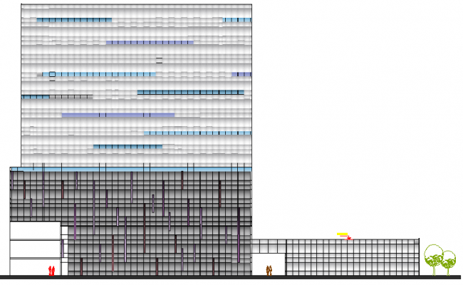 5 Star Hotel Design and Section Plan dwg file