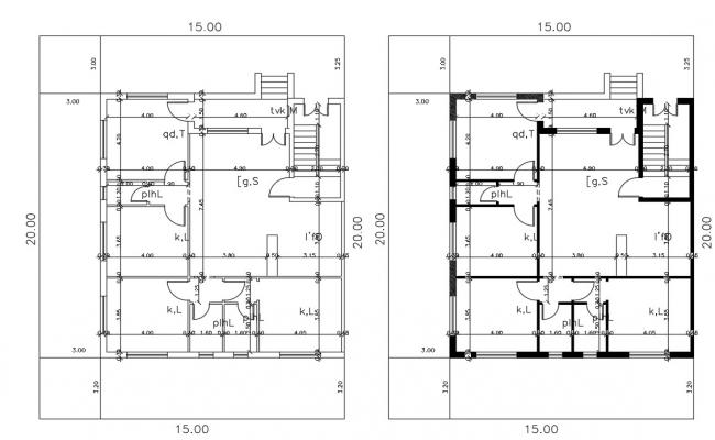 50' X 65' House Plan Design DWG File