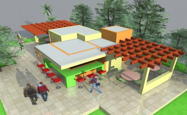 3d Mini Cafeteria