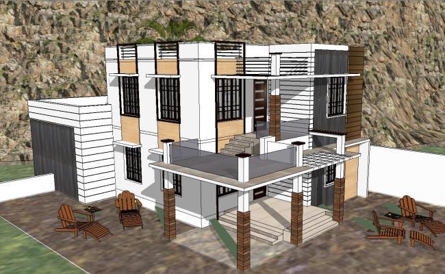 3d modern house sketchup files